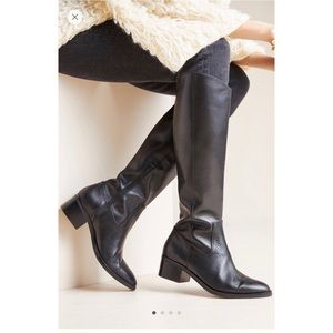 NIB Anthropologie Blaire Riding Boots 8.5 BLK